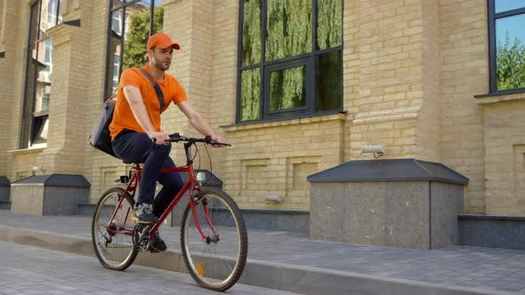 Thumbnail for Courier Delivering Order By Bike
