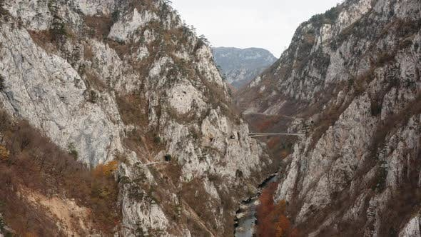 Difficult Road in the Gorge of Montenegro