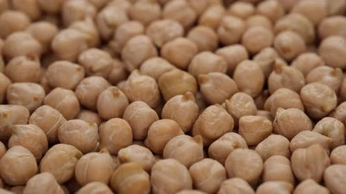 raw chickpeas top view