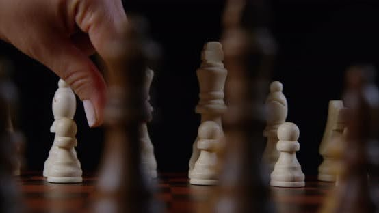 Thumbnail for Hand Moving A Pawn Piece On A Chessboard 20b