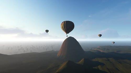 Heißluftballons Landschaft