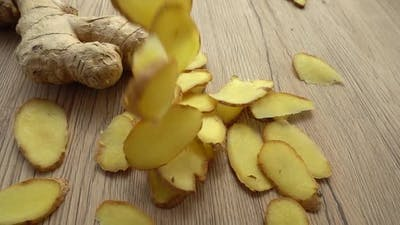 The Sliced Ginger Root