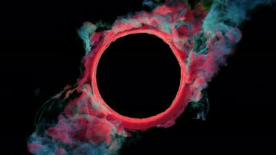 Colorful Smoke Ring