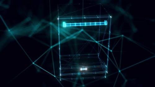 Cove Integrated Dishwasher Hologram Close Up 4k
