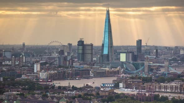 Thumbnail for timelapse london city skyline skyscrapers architecture england urban