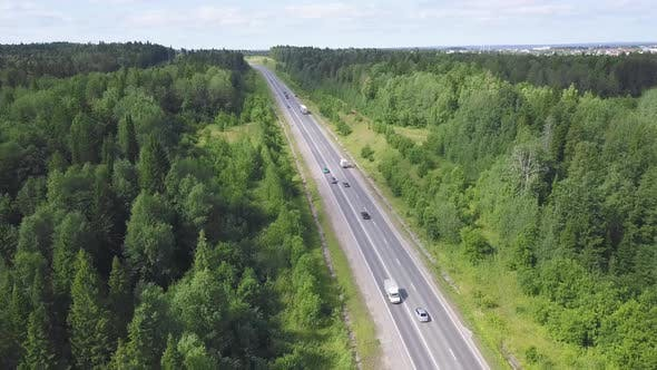 Thumbnail for Top View Of Highway In Forest