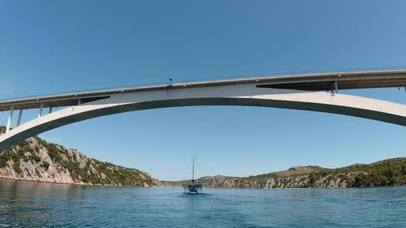 Thumbnail for Croatia, Europe, Sailing a Catamaran Sailboat
