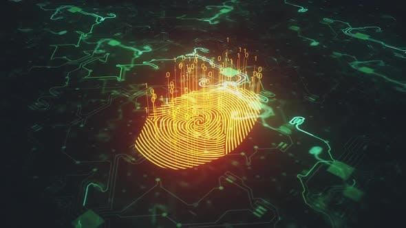Digital Fingerprint Animated