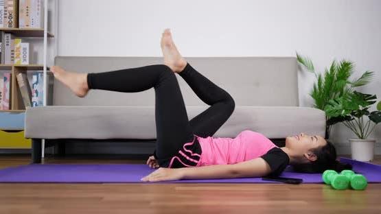 woman yoga exercise.