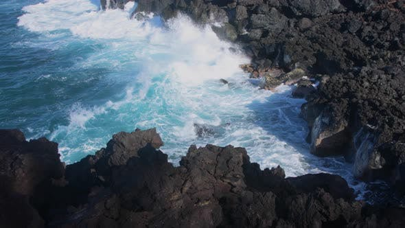 Thumbnail for Waves crashing into shore on Hawaii