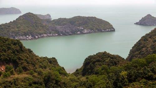 Ha Long Bay Landscape, Vietnam Timelapse