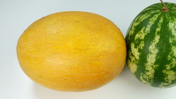 Colorful Melon And Watermelon