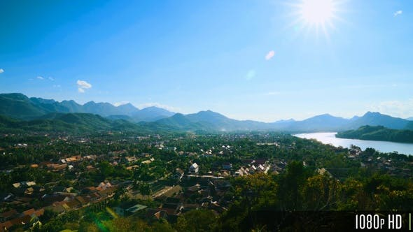 Thumbnail for Luang Prabang Aerial Cityscape View From Phousi Hill, Laos