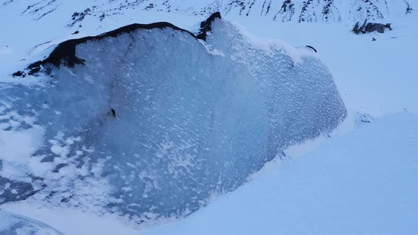 Thumbnail for Large Blue Glacier Ice Wall In Iceland During Winter 2