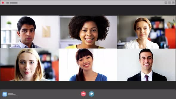 Thumbnail for Screen with People Having Group Video Conference