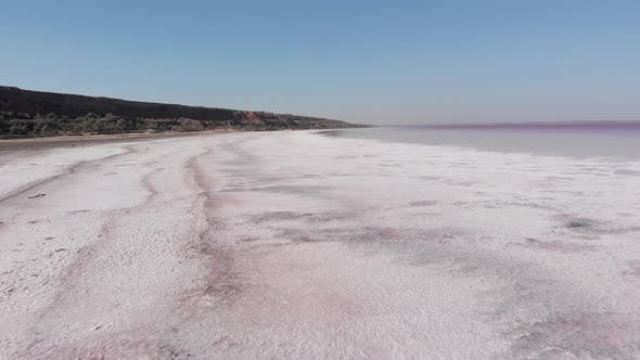 Thumbnail for Incredible beautiful salty lake. Aerial drone view of Kuyalnik, Odessa, Ukraine
