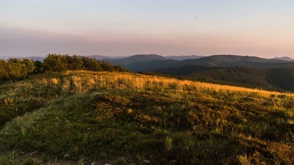 Thumbnail for Morning Sun Light in Grassy Mountains