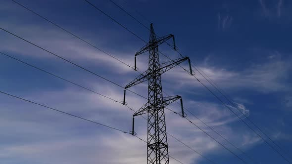 Thumbnail for Electricity Pylons and Clouds Sky