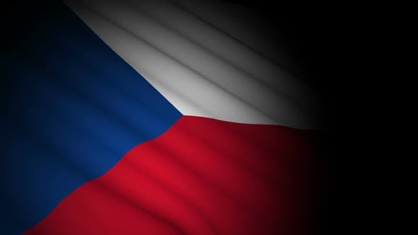 Cover Image for Czech Republic Flag Blowing in Wind