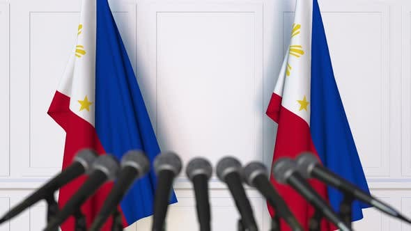 Thumbnail for Official Press Conference with Flags of Philippines