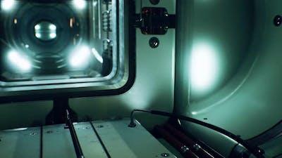 Dark Space Ship Futuristic Interior