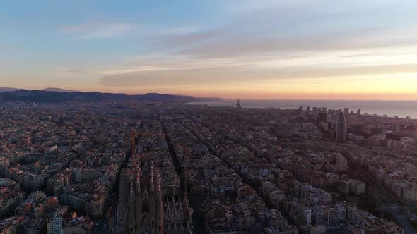 Thumbnail for Aerial View of City of Barcelona