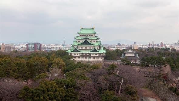 Nagoya Worldwide Famous Castle Museum Timelapse