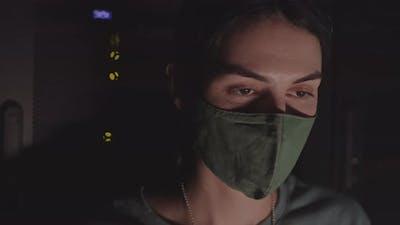 Female Programmer in Face Mask