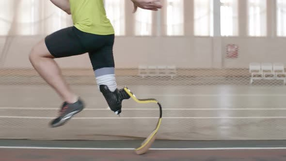 Cover Image for Paralympic Athlete Running a Race