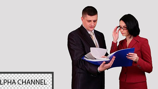 Thumbnail for Business People Reading Documents