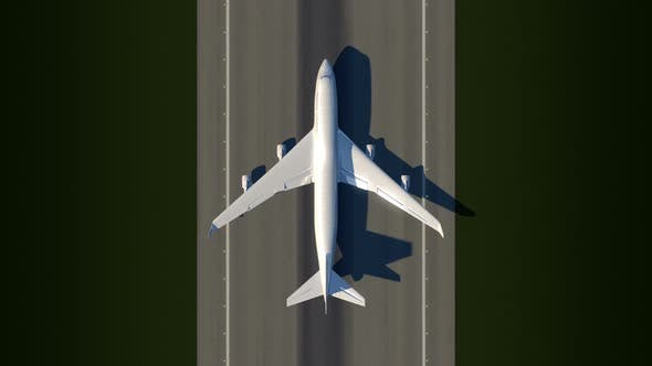 Cover Image for Satellite View of Taking Off Airplane