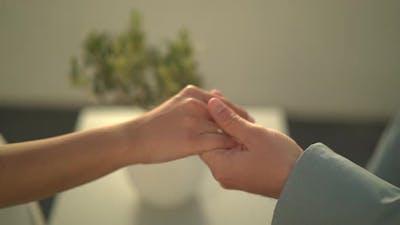 Closeup Holding Hands
