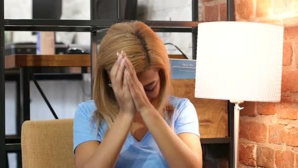 Thumbnail for Upset Black Girl, Failure, Sad Portrait