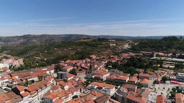 Thumbnail for Aerial View of the Beautiful Cathedral and City of Lamego, Portugal