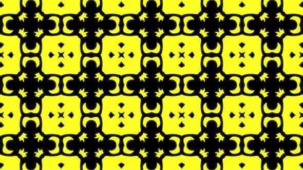 Abstract yellow geometric seamless pattern background