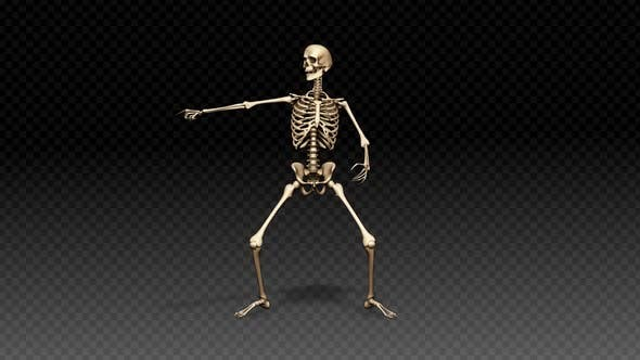 Skeleton Show Dance Blague