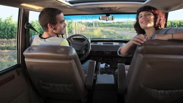 Thumbnail for Young couple in car