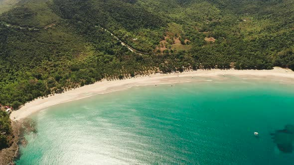 Thumbnail for Tropical Beach with White Sand, View From Above
