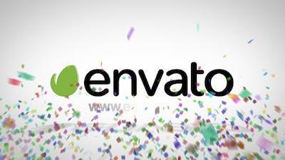 Confetti Logo Reveal