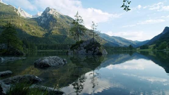 Thumbnail for Hintersee Lake in Sunset Light. Ramsau, Berchtesgaden, Bavaria, Germany, Europe