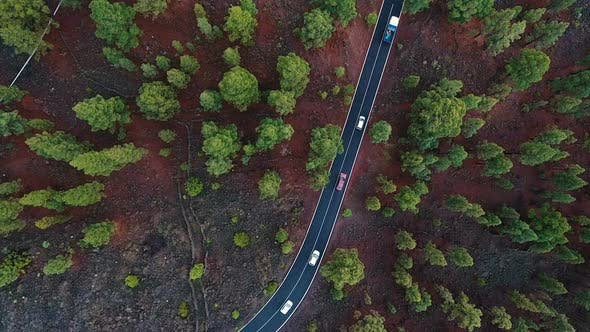 Thumbnail for Aerial Of Country Road Traffic