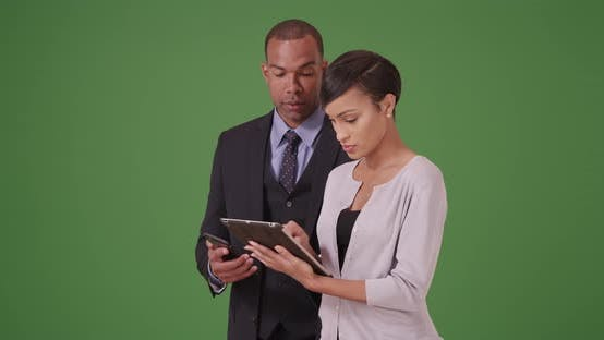 Thumbnail for Business team working together in a meeting on green screen