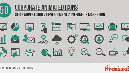 Thumbnail for Corporate Animated Icons