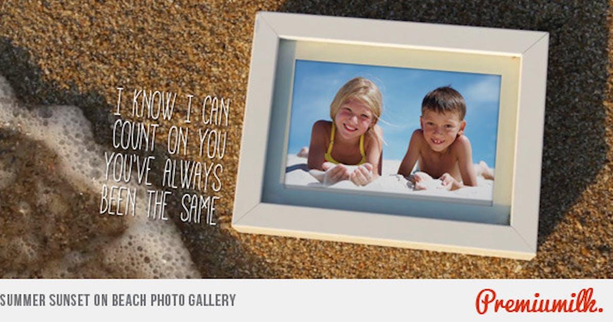 Download Summer Sunset on Beach Photo Gallery by Premiumilk