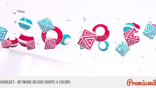 Broadcast - Network Design Shapes & Colors