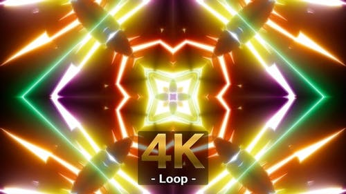 Bright Multi Shape Light Show 4K 02