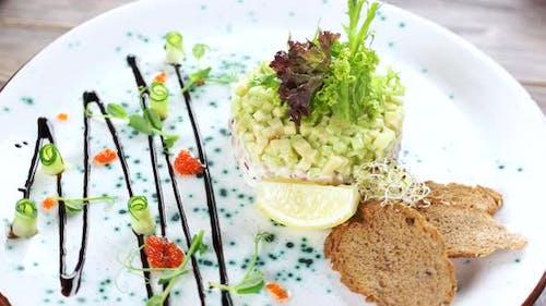 Herring Tartare with Fresh Lettuce