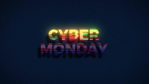 Retro Glitch Cyber Monday Sale