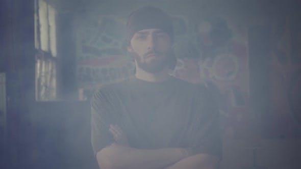 Bearded Hip Hop Dancer