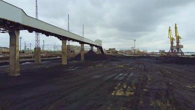 Crane View of Big Industrial Area